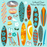 Surfboard Clipart Clipart & Digital Paper Melissa Held Designs    Mygrafico