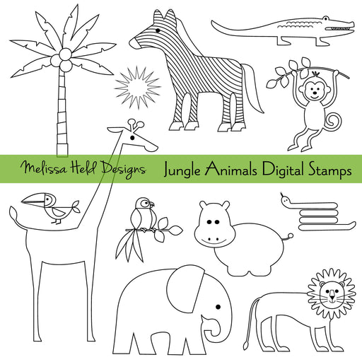 Jungle Animals Digital Stamps