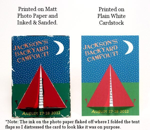 Backyard Campout Party Kit!  Lindsay's Stamp Stuff    Mygrafico