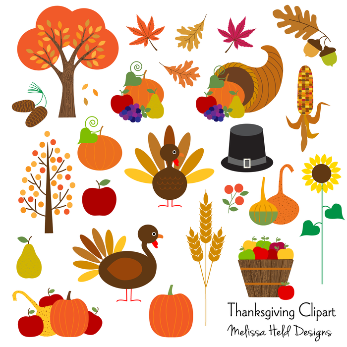 Thanksgiving Clipart Clipart Melissa Held Designs    Mygrafico