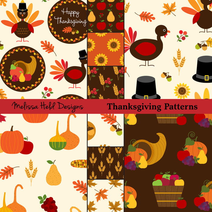 Thanksgiving Patterns Clipart Melissa Held Designs    Mygrafico