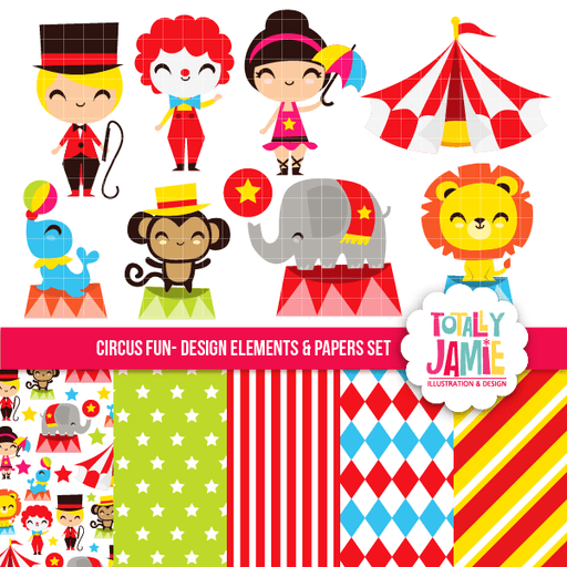 Circus Fun Set Bundle Totally Jamie    Mygrafico