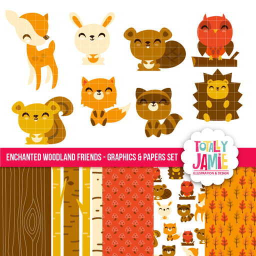 Enchanted Woodland Friends Set Bundle Totally Jamie    Mygrafico