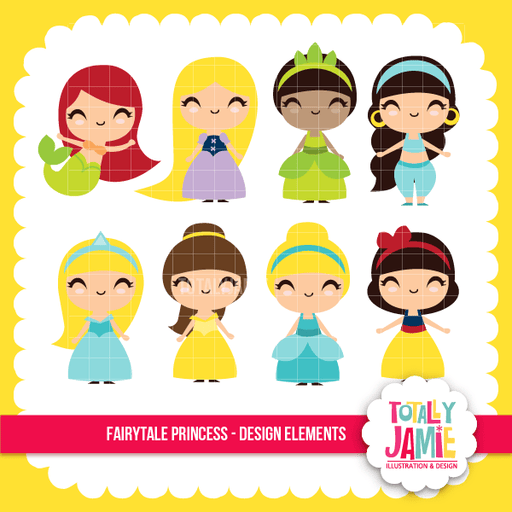 Fairytale Princess Set Clipart Totally Jamie    Mygrafico