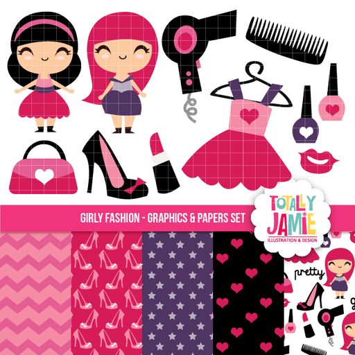Girly Fashion Set Bundle Totally Jamie    Mygrafico