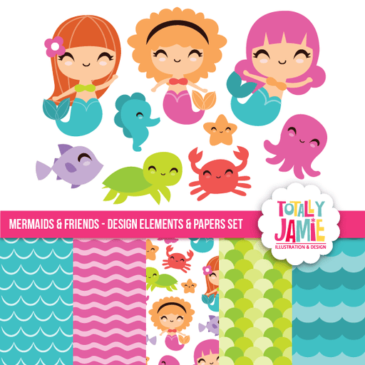 Mermaids And Friends Set Bundle Totally Jamie    Mygrafico