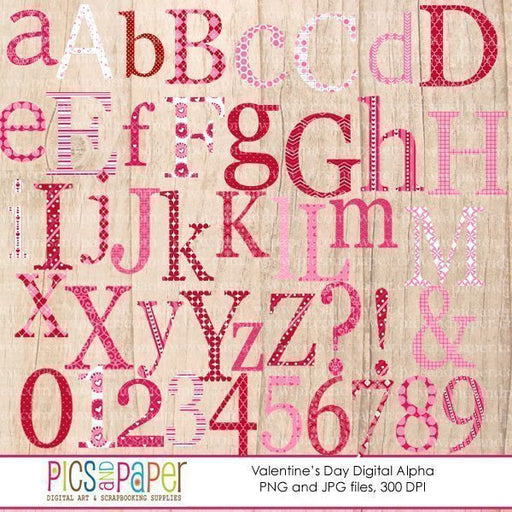 Valentine's Day Alphabet Clipart  Pics and Paper    Mygrafico