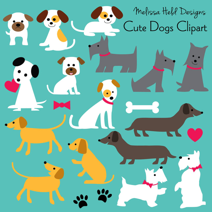 Cute Dogs Clipart Cliparts Melissa Held Designs    Mygrafico