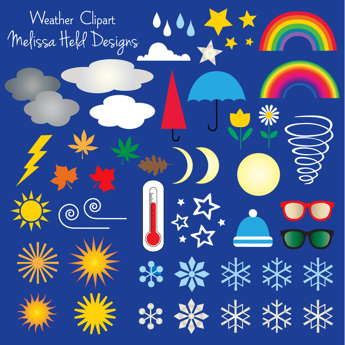 Weather Clipart Clipart & Digital Paper Melissa Held Designs    Mygrafico
