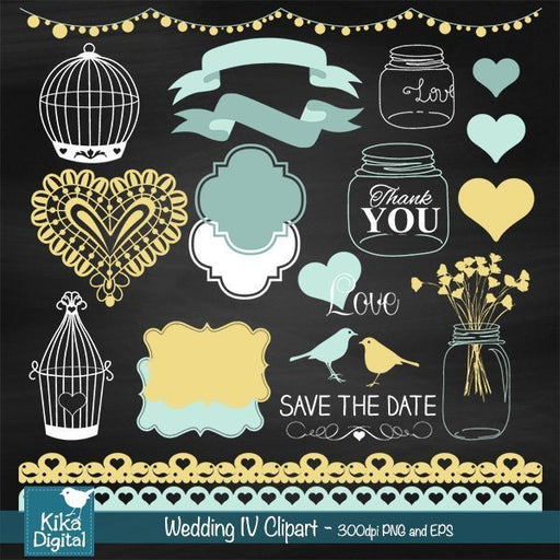Chalkboard Yellow Wedding  Kika Digital    Mygrafico