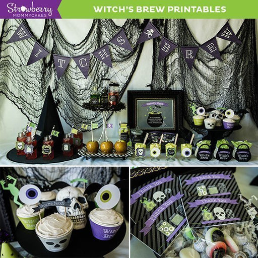 DIY Witch's Brew Halloween Printables Party Printable Templates Strawberry Mommycakes    Mygrafico