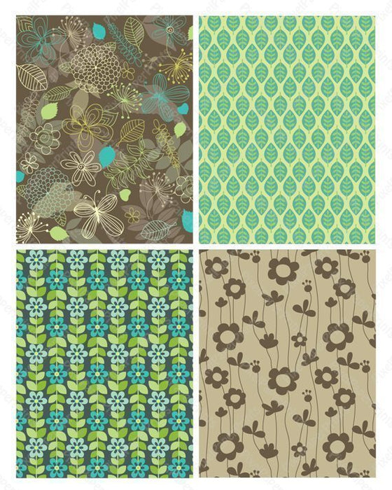 Nature Shapes - Green Papers  Pixel Paper Prints    Mygrafico