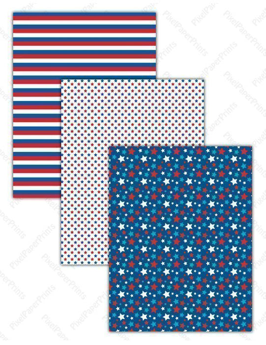Cute 4th of July  Pixel Paper Prints    Mygrafico