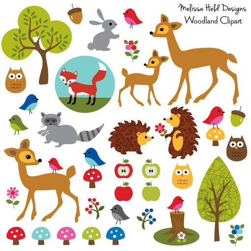 Woodland Animals Clipart Cliparts Melissa Held Designs    Mygrafico