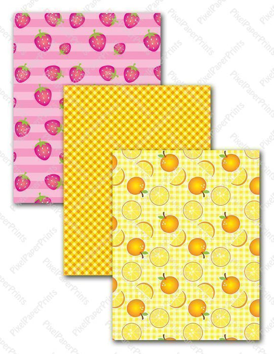 Delicious Fruits  Pixel Paper Prints    Mygrafico