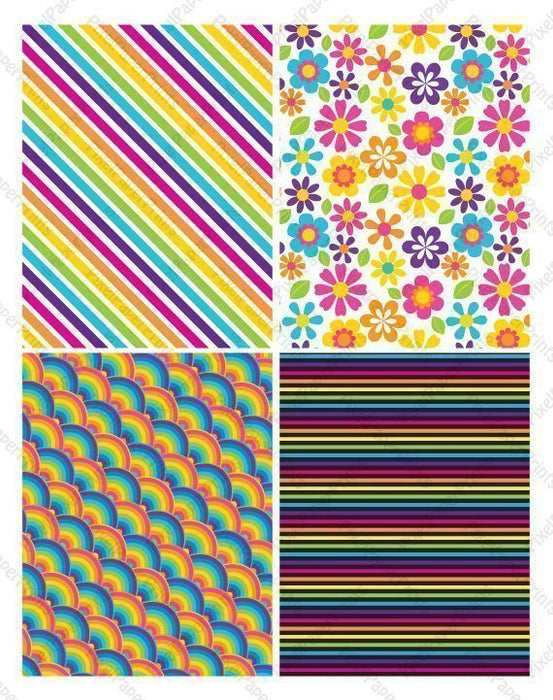 The Rainbow Pack Papers  Pixel Paper Prints    Mygrafico