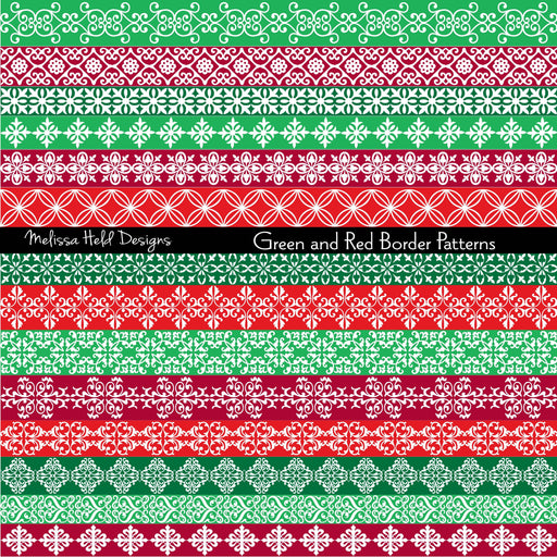 Green and Red Border Patterns Cliparts Melissa Held Designs    Mygrafico