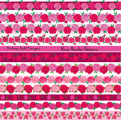 Rose Border patternss Cliparts Melissa Held Designs    Mygrafico
