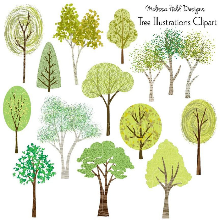 Tree Illustrations Clipart Cliparts Melissa Held Designs    Mygrafico