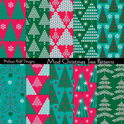 Mod Christmas Tree Patterns