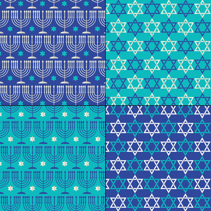 Blue and Silver Hanukkah Patterns Digital Paper & Backgrounds Melissa Held Designs    Mygrafico