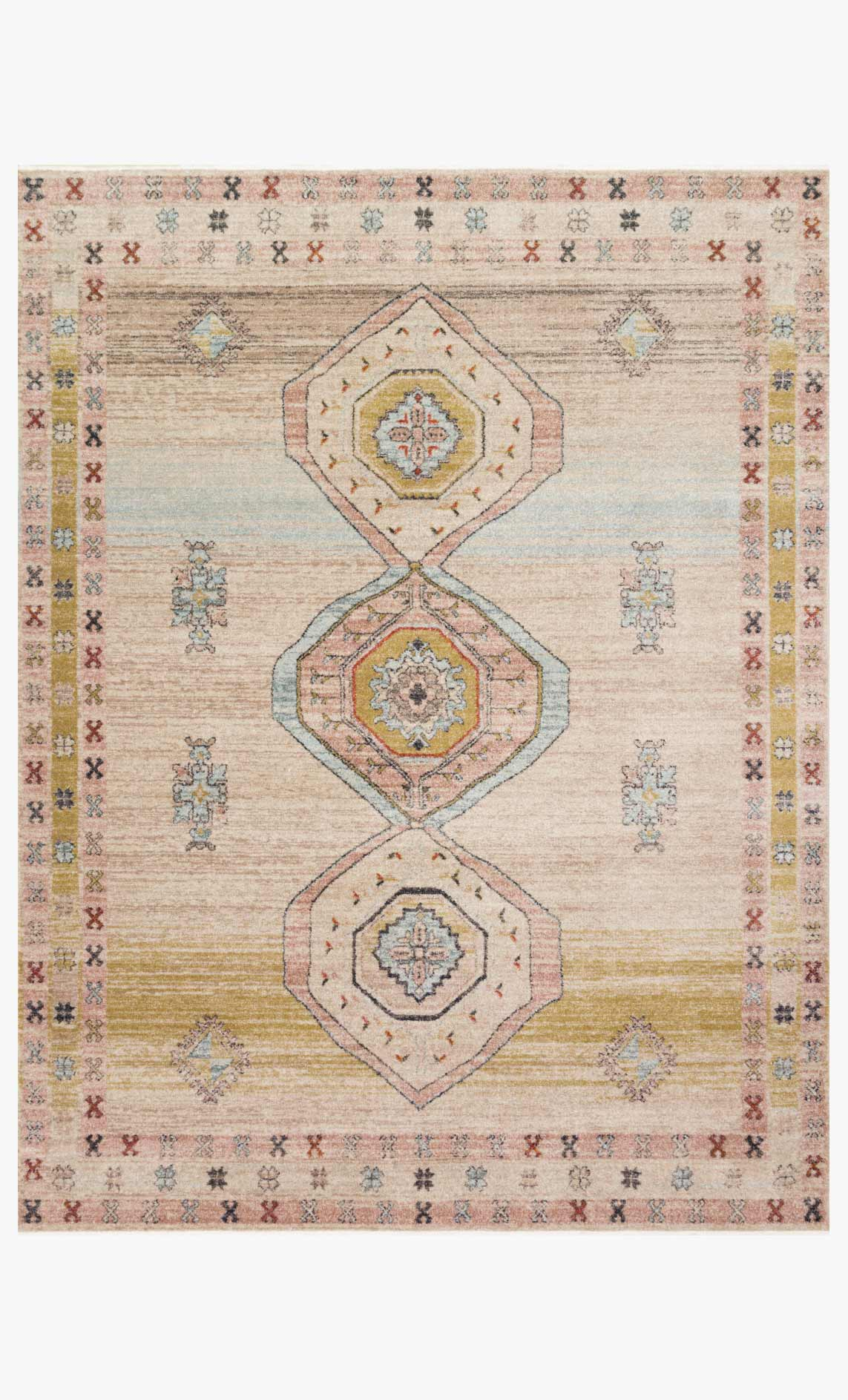 Gra 04 Mh Antique Ivory Multi Loloi Rugs