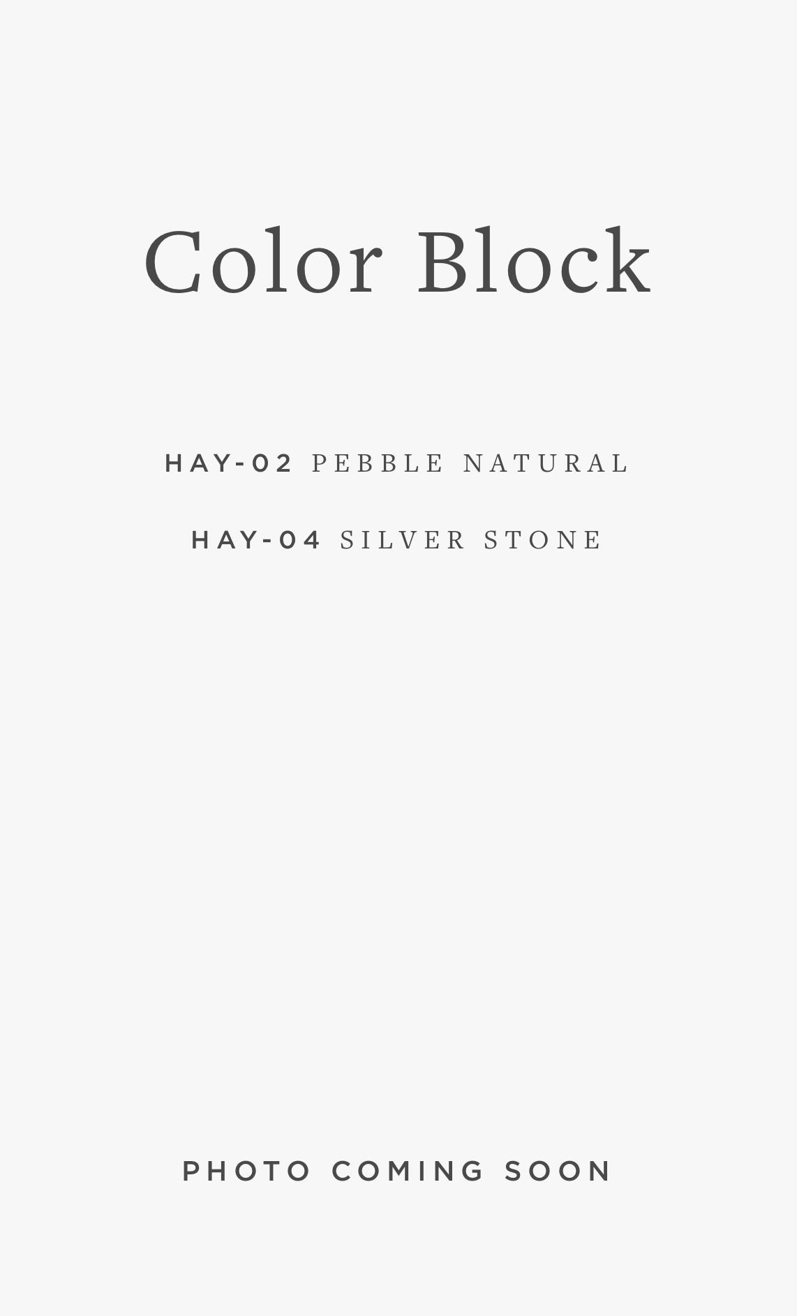 HAY-05 COLOR BLOCK / 01