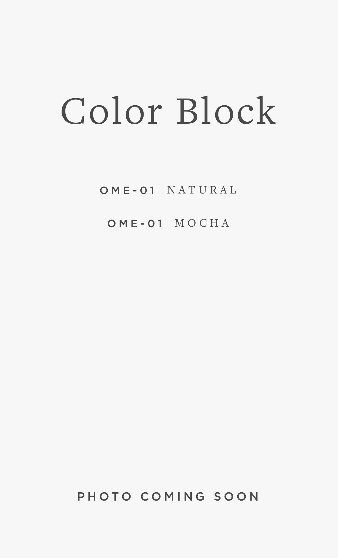 OME-01 COLOR BLOCK / 02