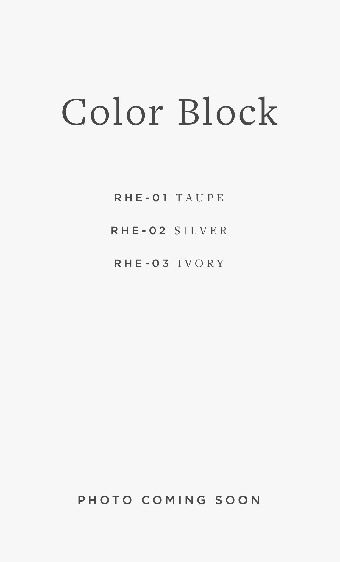 RHE-06 COLOR BLOCK / 01