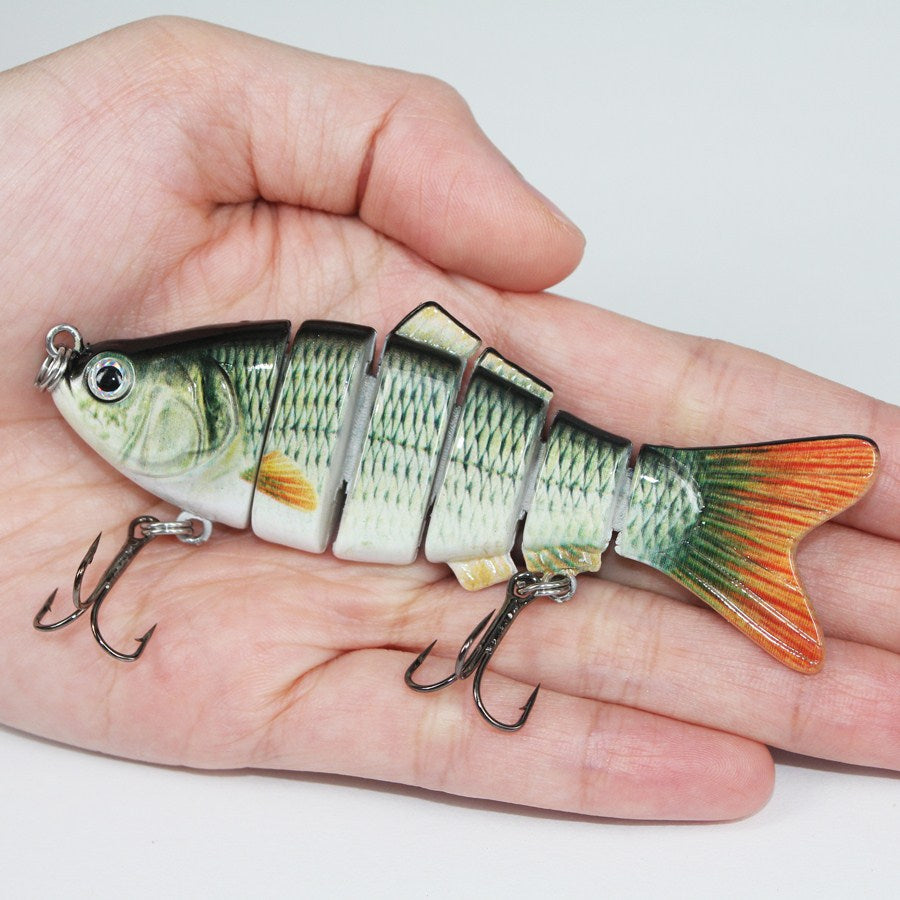 Fishing Wobbler Lifelike Fishing Lure 6 Segment 10cm 19g