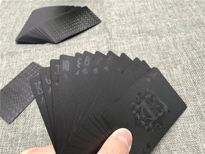 54pcs Waterproof Black Diamond Plastic Playing Cards