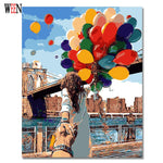 Balloons oil painting by numbers