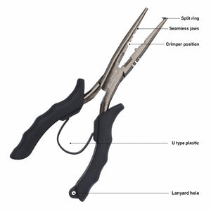 Fishing Pliers Used for Grip Hooks Split Rings and Crimping Sleeves