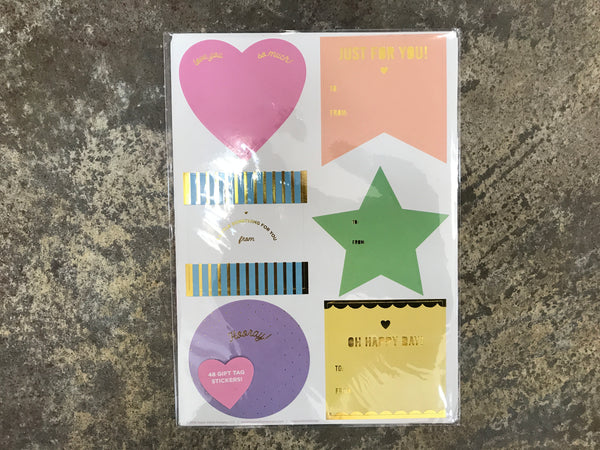 Taylor Elliot Designs - Neon Gift Tag Stickers 48 ct