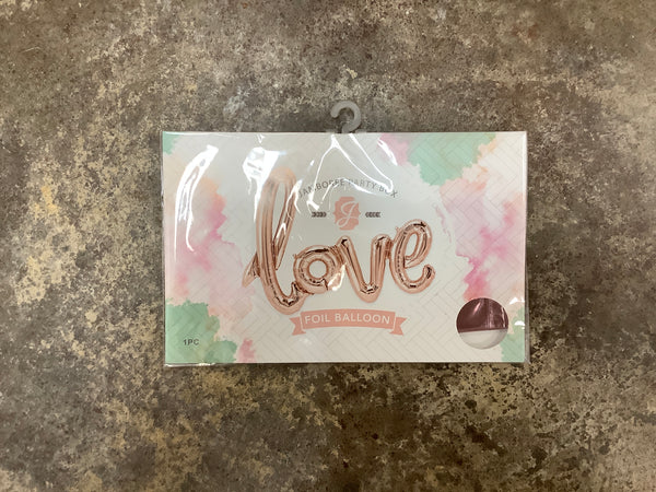 Jamboree Style - Rose Gold Love Foil Balloon Banner
