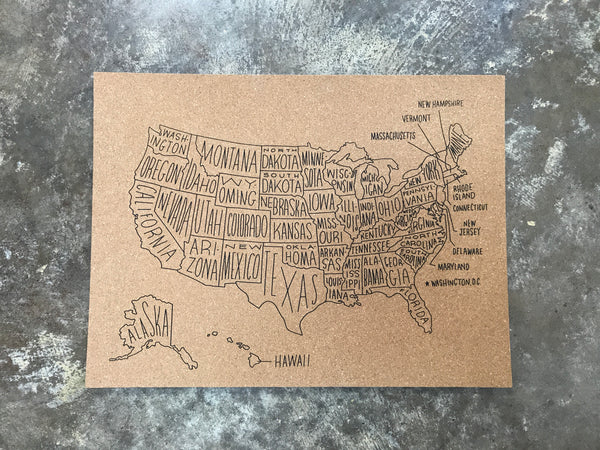 Easy Tiger - Medium Sized USA Map