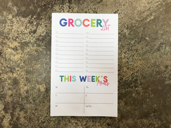 Joy Creative Shop - Grocery List + Meal Planner