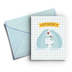 Polar Bear Anniversary Card - Fresh Frances Greeting Cards