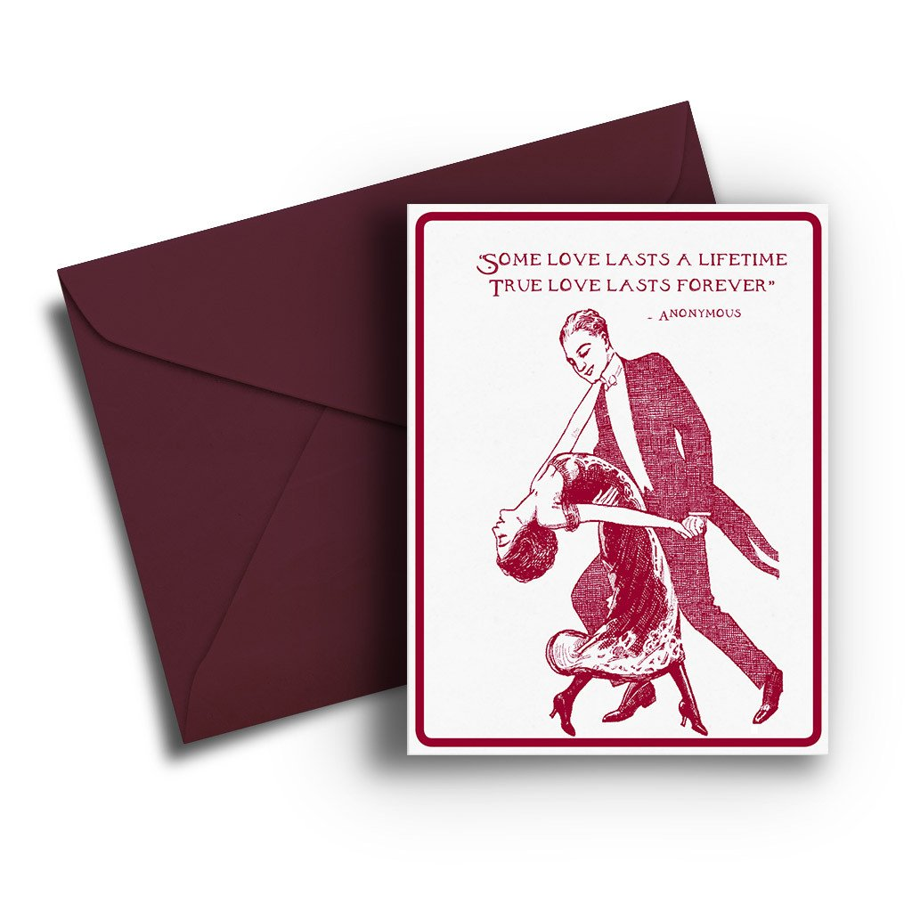 Dancing Anniversary Card - Fresh Frances Greeting Cards