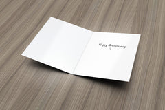 Do Not Disturb Anniversary Card
