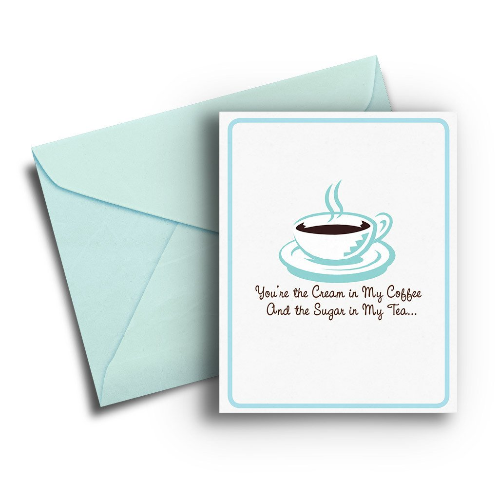 Cream in My Coffee Love Card - Fresh Frances Greeting Cards