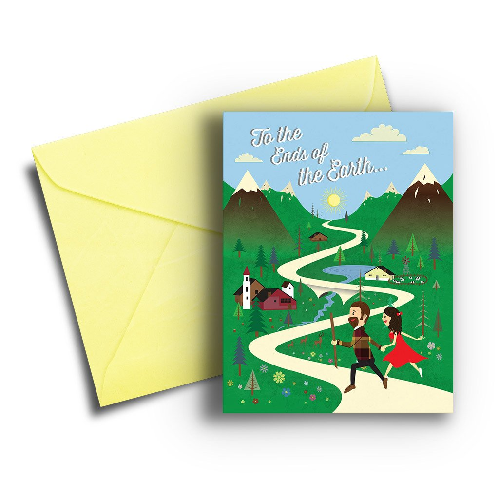 Ends of the Earth Anniversary Card - Fresh Frances Greeting Cards