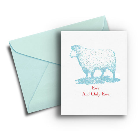 Ewe and Only Ewe Anniversary Card