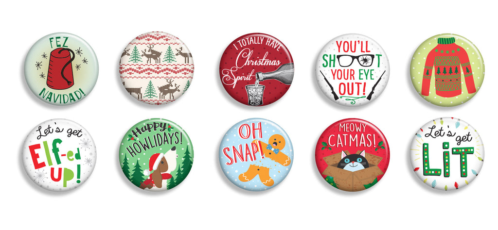 Christmas Buttons - Fresh Frances Greeting Cards