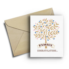 Family Tree Baby Card - Fresh Frances Greeting Cards