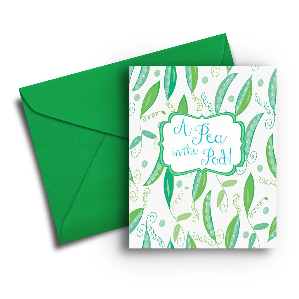 Pea in the Pod Baby Card - Fresh Frances Greeting Cards