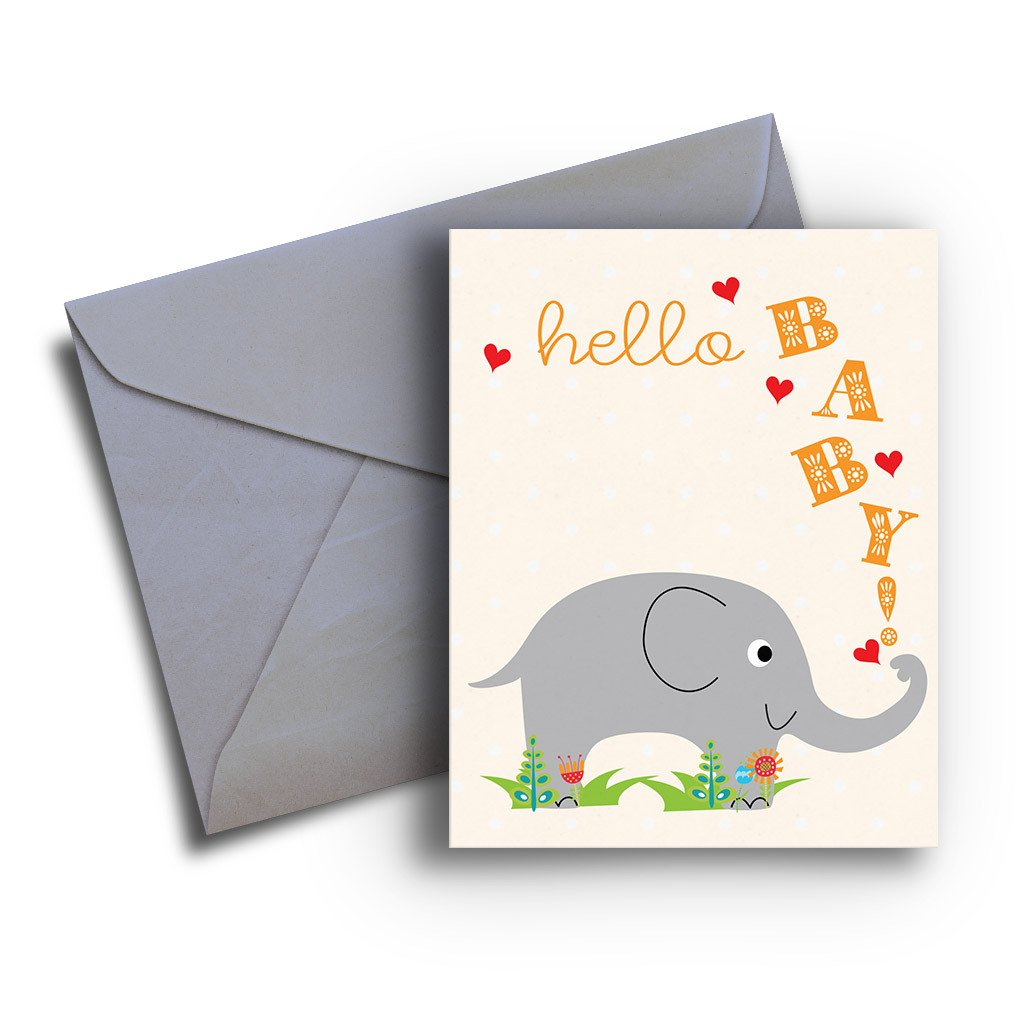 Elephant Baby Card - Fresh Frances Greeting Cards