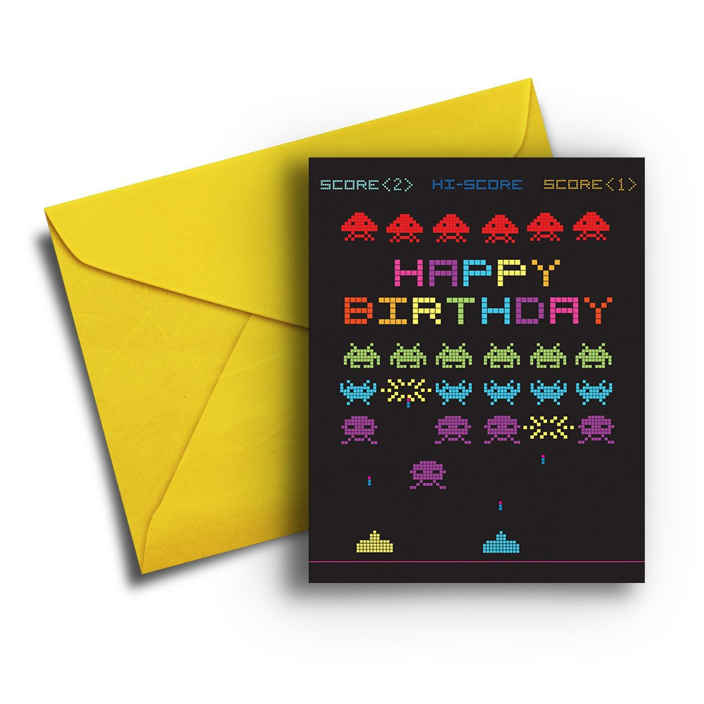 Video Game Birthday Card - Fresh Frances Greeting Cards