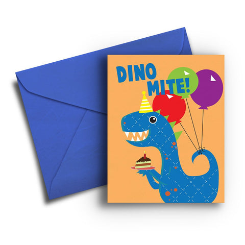 Dino Mite Kids Birthday Card