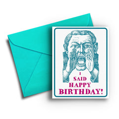 Hard of Hearing Birthday Card - Fresh Frances Greeting Cards